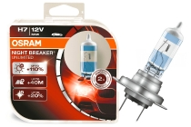 OSRAM H7 halogēna spuldzes (2gab.) NIGHT BREAKER UNLIMITED / Spilgtums +110% / Stara garums +40m 4052899017061 :: OSRAM NIGHT BREAKER